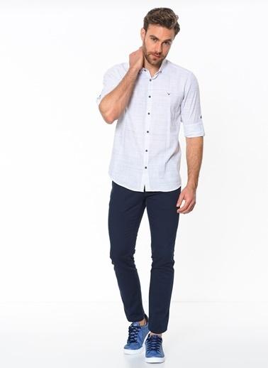 Cazador Uzun Kollu Slim Fit Gömlek Beyaz